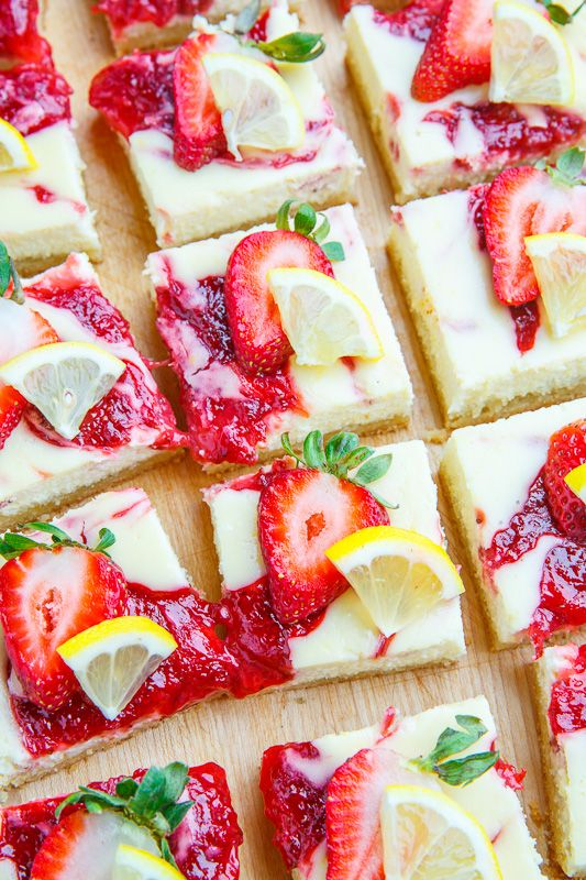 that you will enjoy these strawberry lemon cheesecake bars! These bars ...